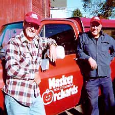 Apple Jack and Apple George, partners of Masker for 35 years